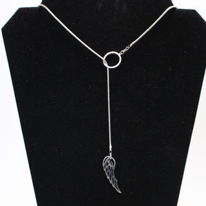 Lariat Sweater Necklace New Handmade .925 Sterling